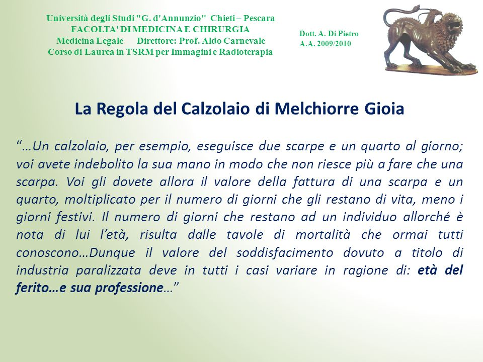 La Regola del Calzolaio di Melchiorre Gioia