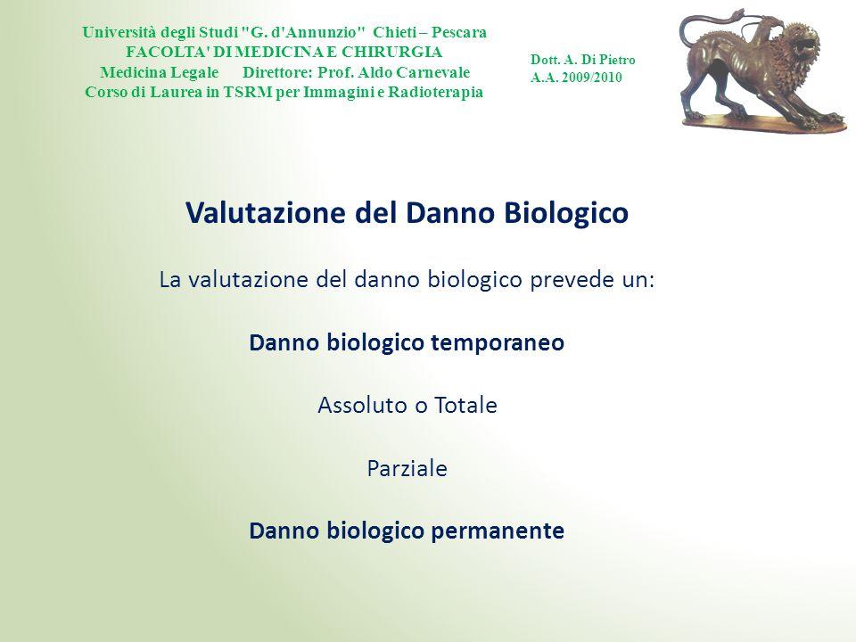 Valutazione del Danno Biologico