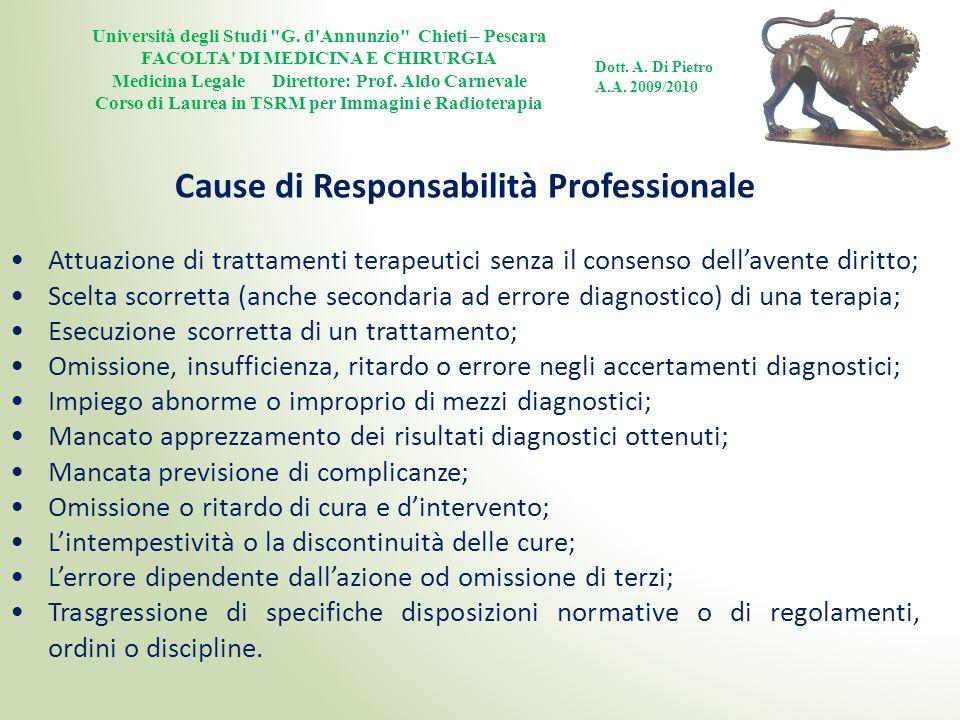 Cause di Responsabilità Professionale