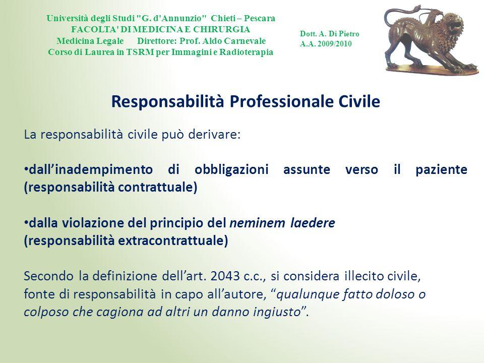 Responsabilità Professionale Civile