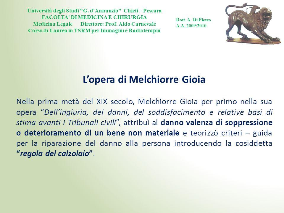 L'opera di Melchiorre Gioia