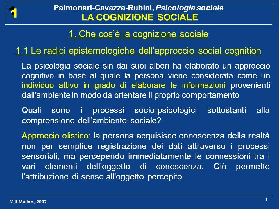 1. Che cos'è la cognizione sociale