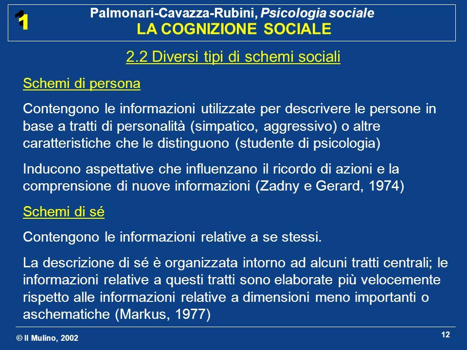 2.2 Diversi tipi di schemi sociali
