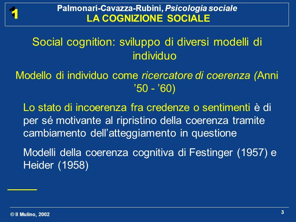 Social cognition: sviluppo di diversi modelli di individuo