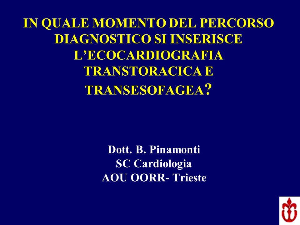 Dott. B. Pinamonti SC Cardiologia AOU OORR- Trieste