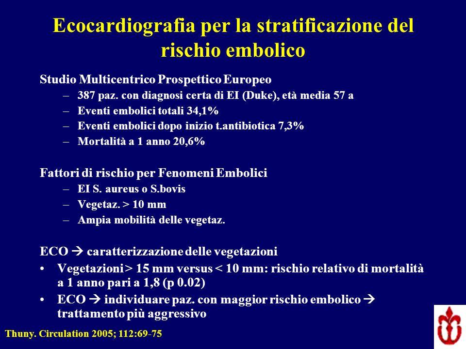 Ecocardiografia per la stratificazione del rischio embolico