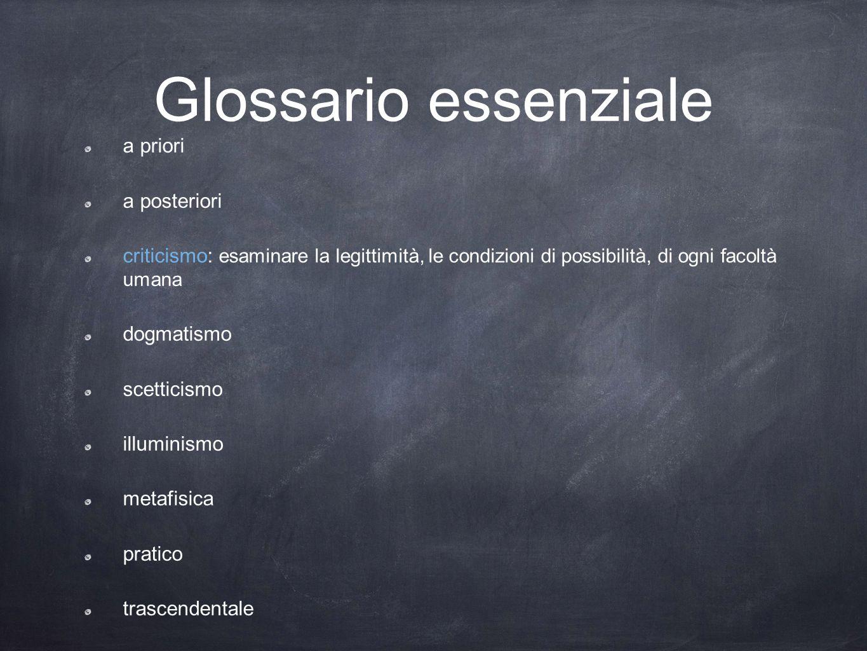 Glossario essenziale a priori a posteriori