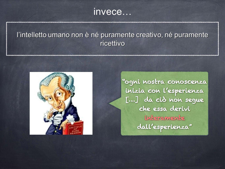 l'intelletto umano non è né puramente creativo, né puramente ricettivo