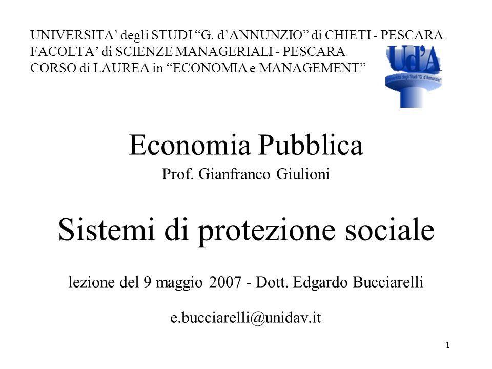 Sistemi di protezione sociale