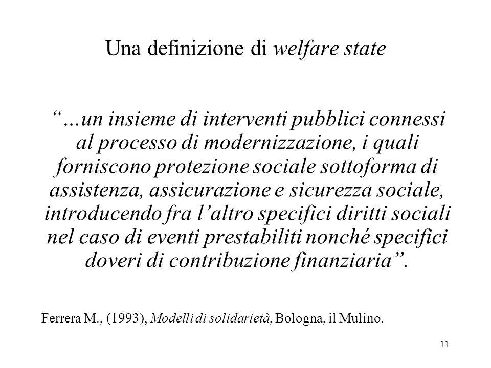 Una definizione di welfare state