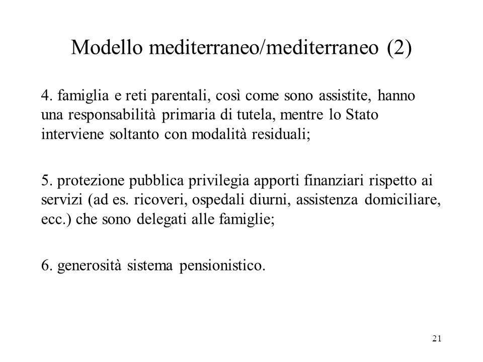 Modello mediterraneo/mediterraneo (2)