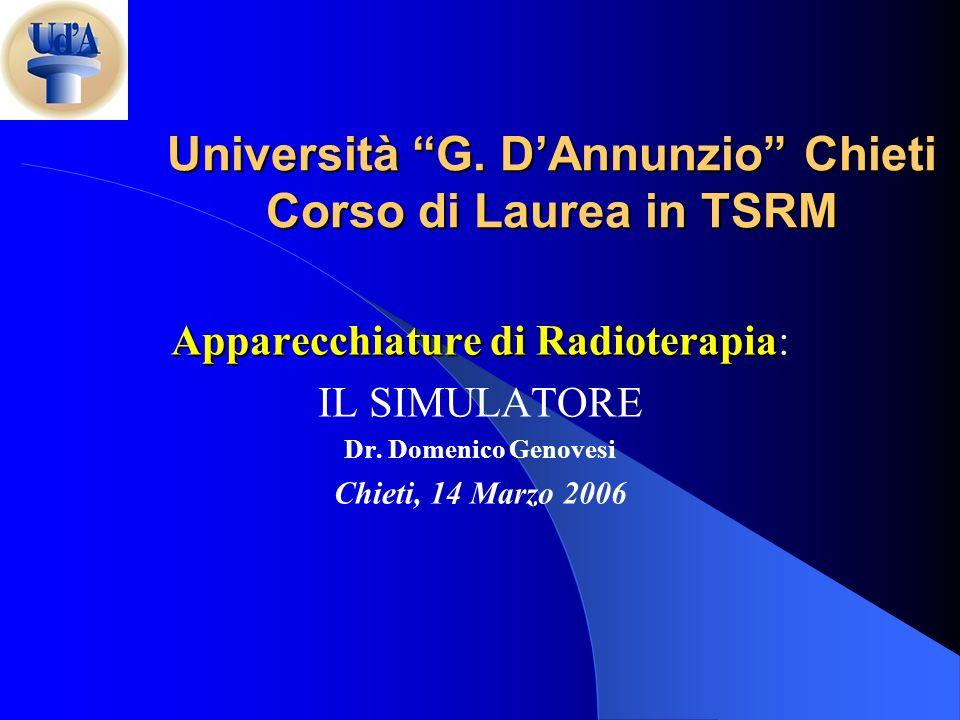 Università G. D'Annunzio Chieti Corso di Laurea in TSRM
