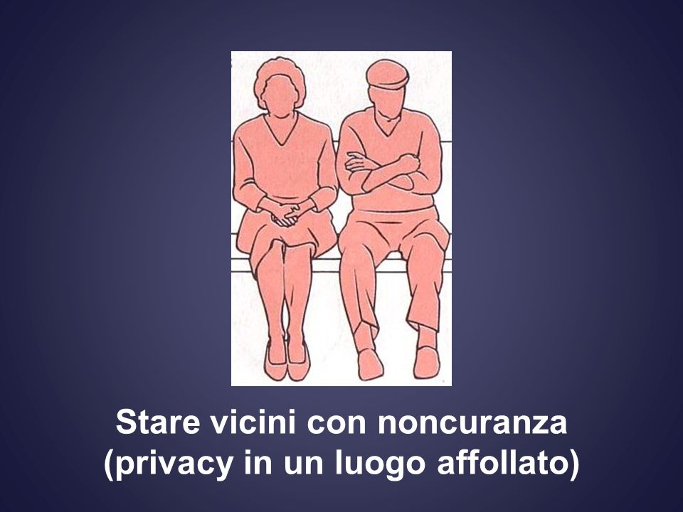 Stare vicini con noncuranza (privacy in un luogo affollato)