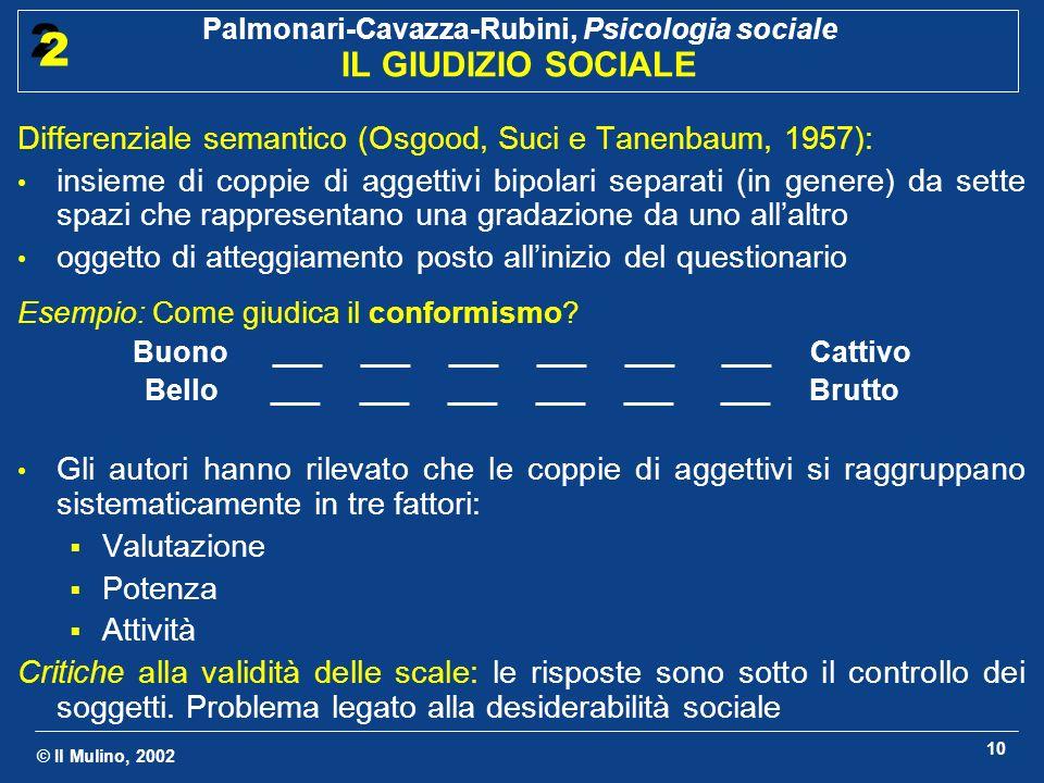 Differenziale semantico (Osgood, Suci e Tanenbaum, 1957):