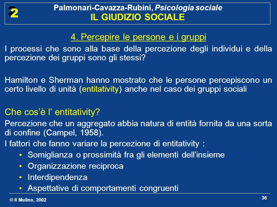 4. Percepire le persone e i gruppi