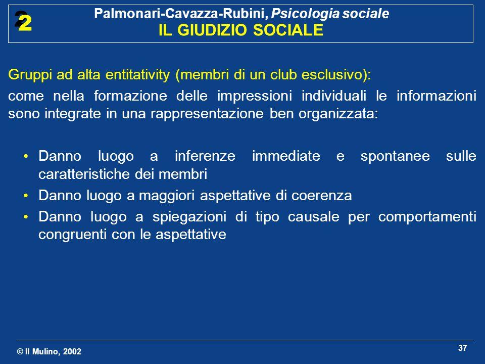 Gruppi ad alta entitativity (membri di un club esclusivo):