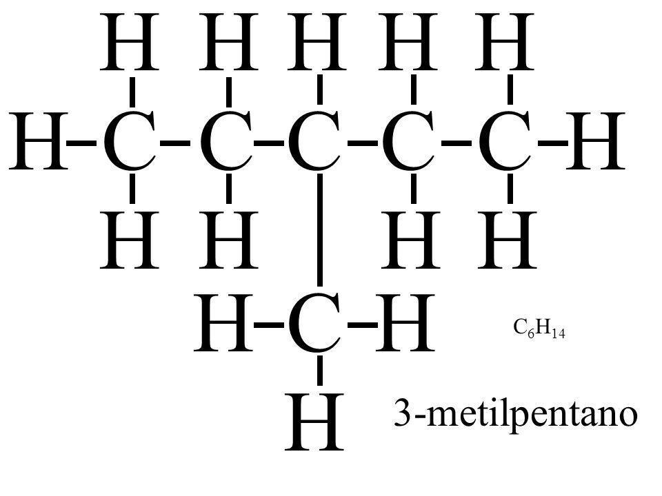 H H H H H C H C C C C H C H H H C6H14 3-metilpentano