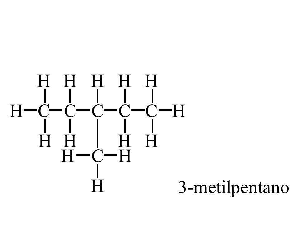 H H H H H H C C C C C H H H H H H C H 3-metilpentano H