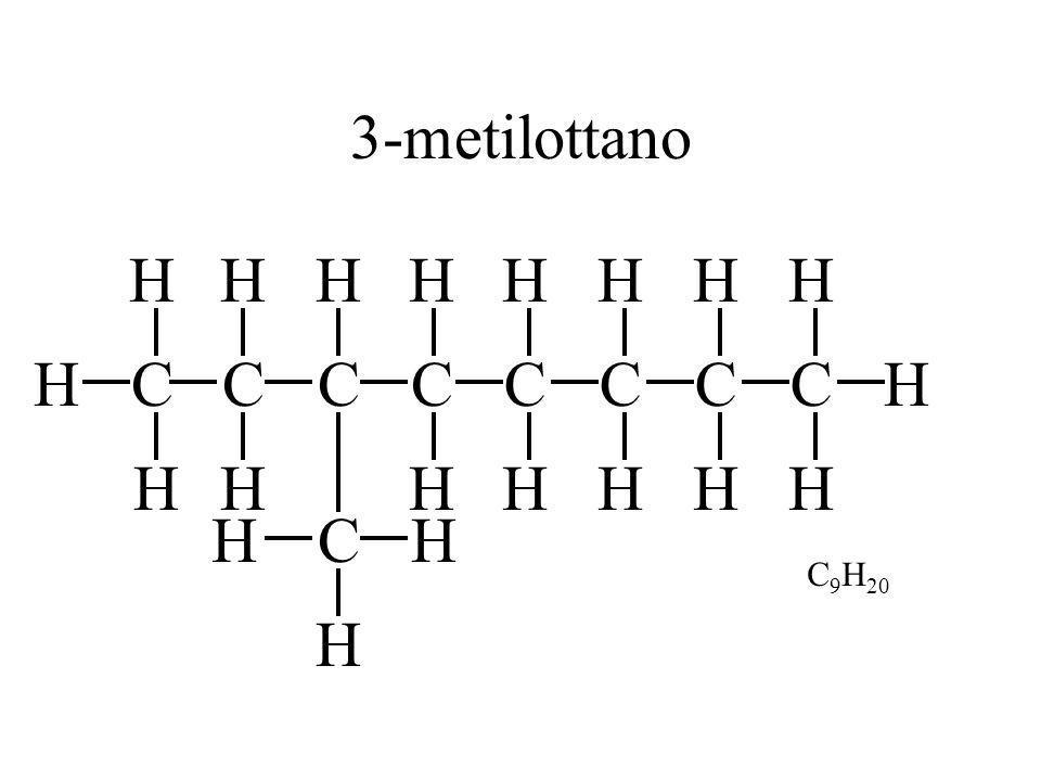 3-metilottano H H H H H H C H C H H C C C C C C H H H H H H H C H H