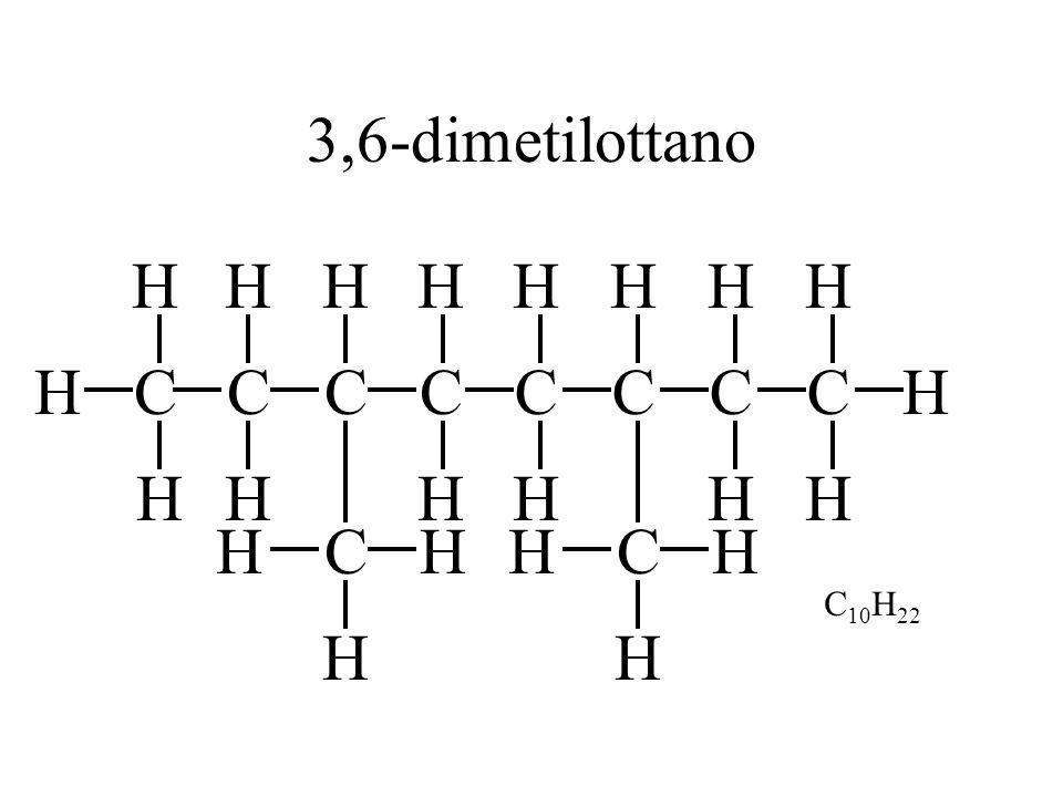 3,6-dimetilottano H H H H H H C H C H H C C C C C C H H C H H H H H C