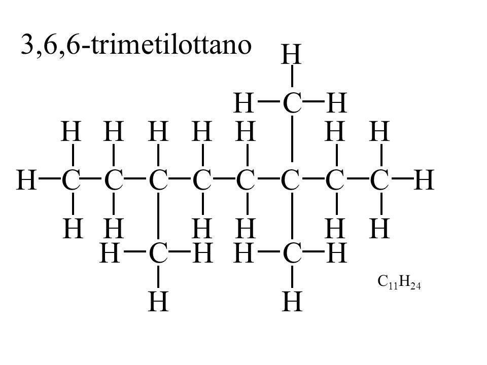 3,6,6-trimetilottano H H C H H H H H H C H C H H C C C C C C H H C H H