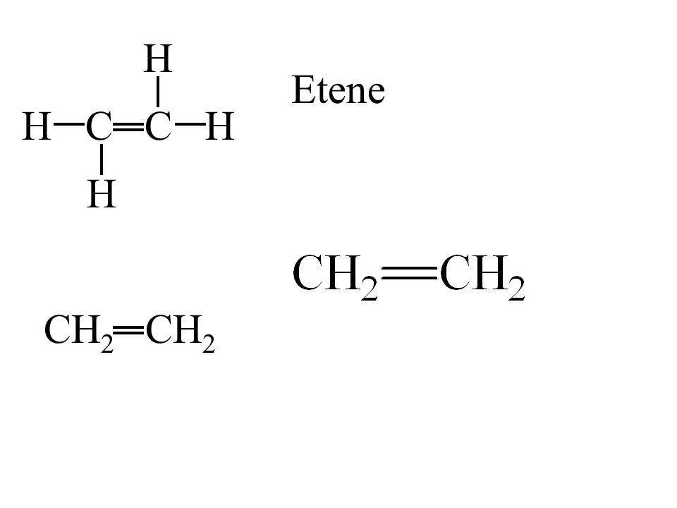 H Etene H C C H H CH2 CH2