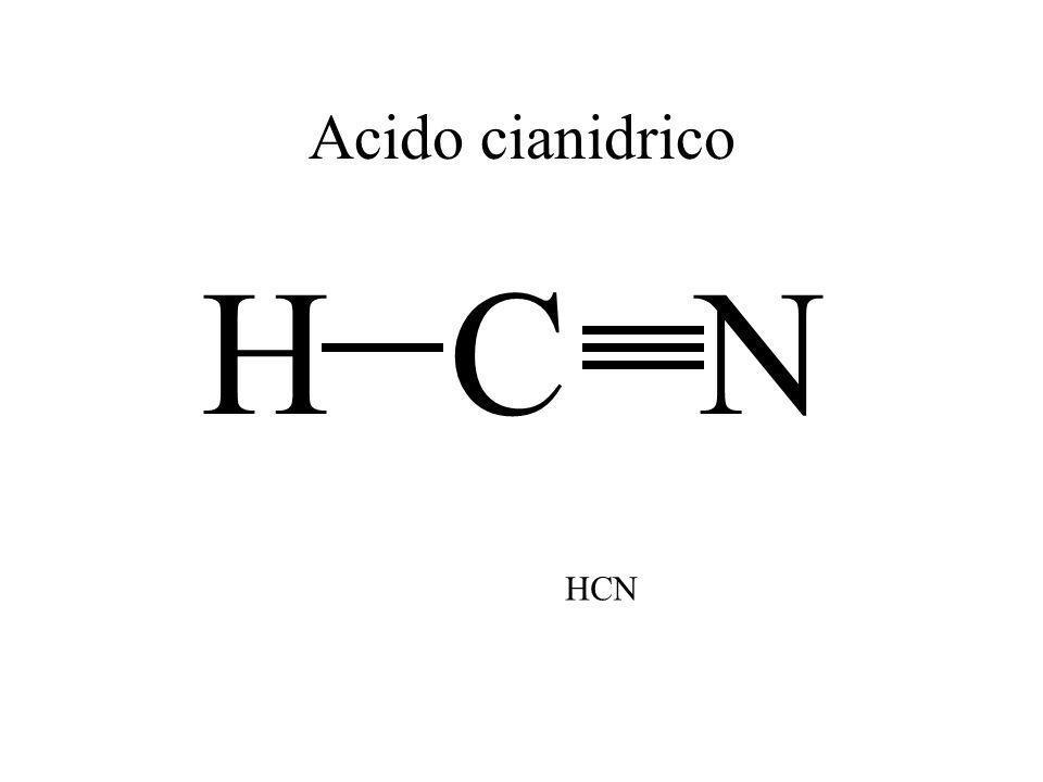 Acido cianidrico H C N HCN