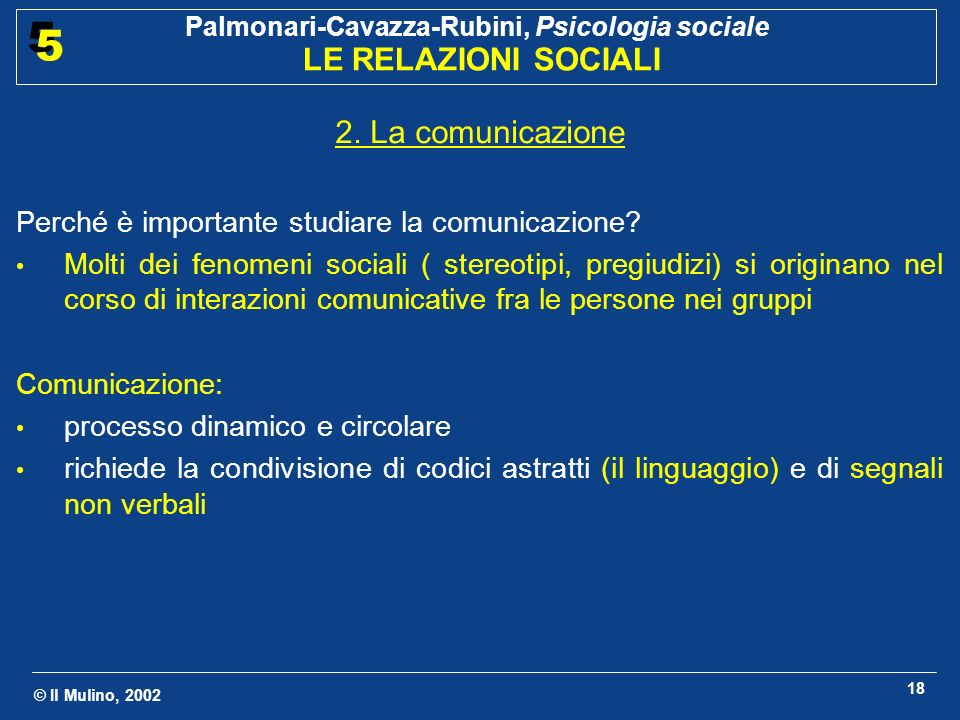2. La comunicazione Perché è importante studiare la comunicazione