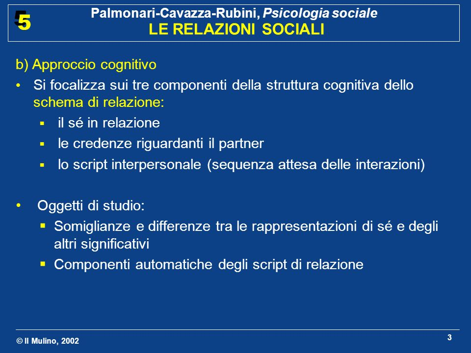 b) Approccio cognitivo