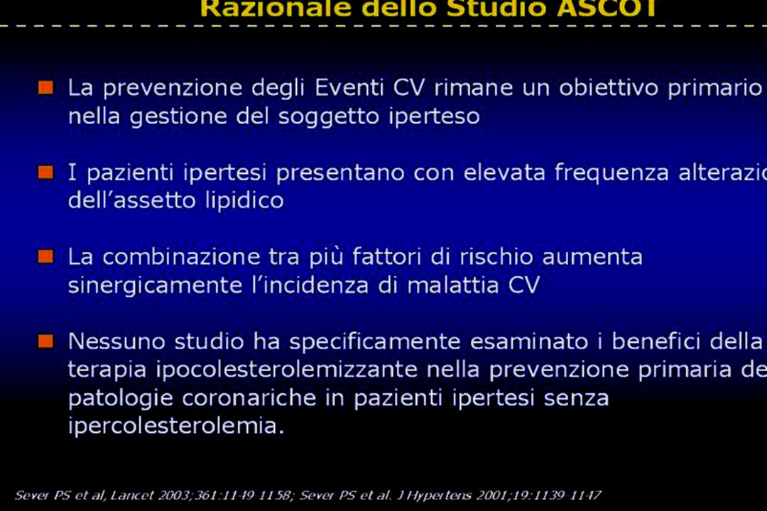 Razionale dello Studio ASCOT