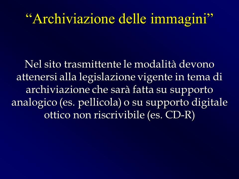 Archiviazione delle immagini