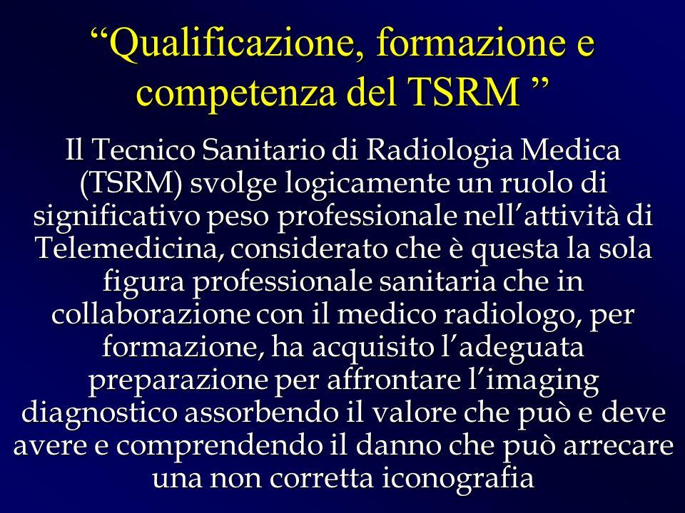 Qualificazione, formazione e competenza del TSRM