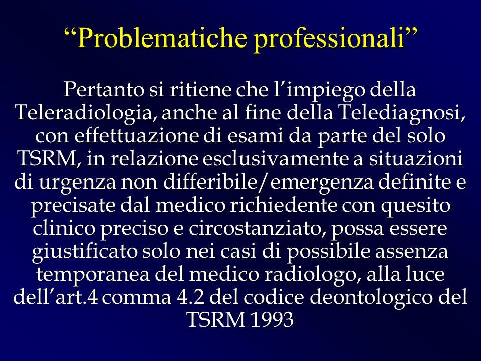 Problematiche professionali