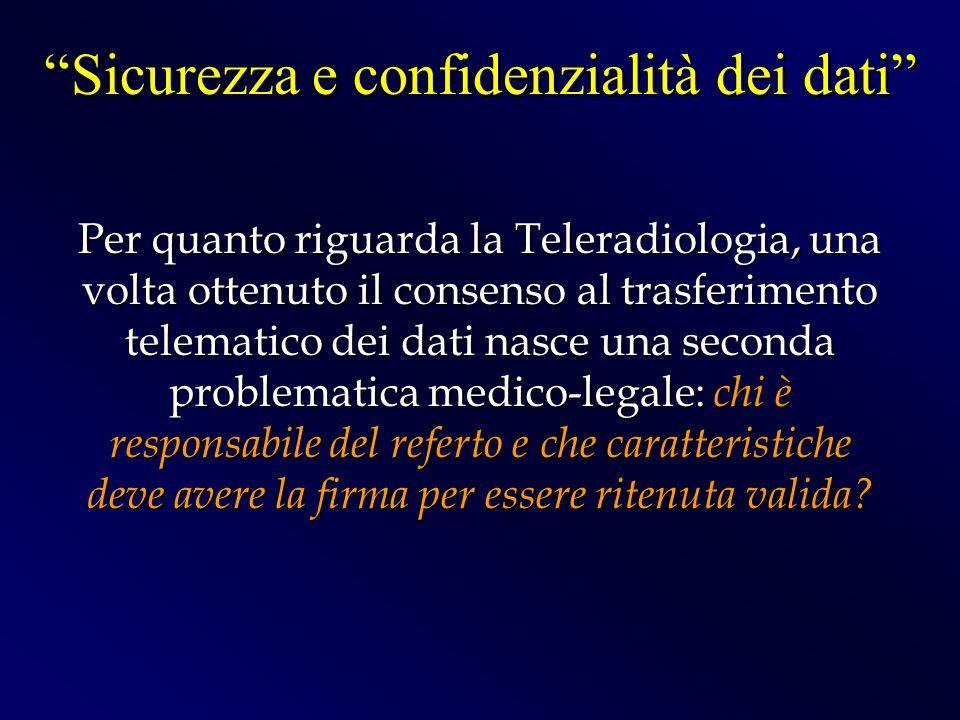 Sicurezza e confidenzialità dei dati