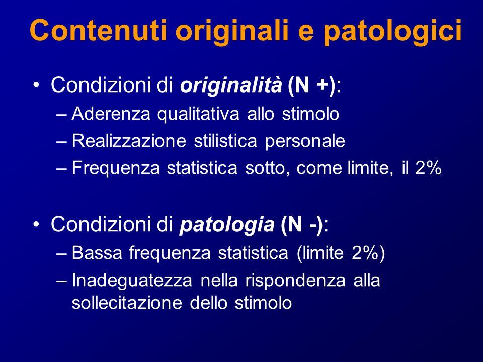 Contenuti originali e patologici