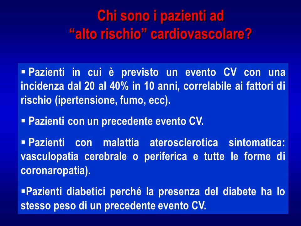 Chi sono i pazienti ad alto rischio cardiovascolare
