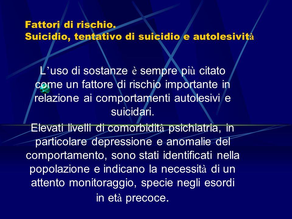 I disturbi da uso di sostanze e la loro comorbidità di asse I e II