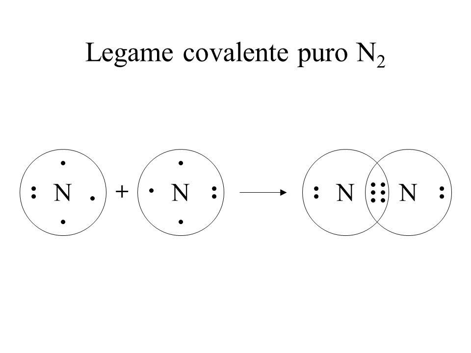 Legame covalente puro N2