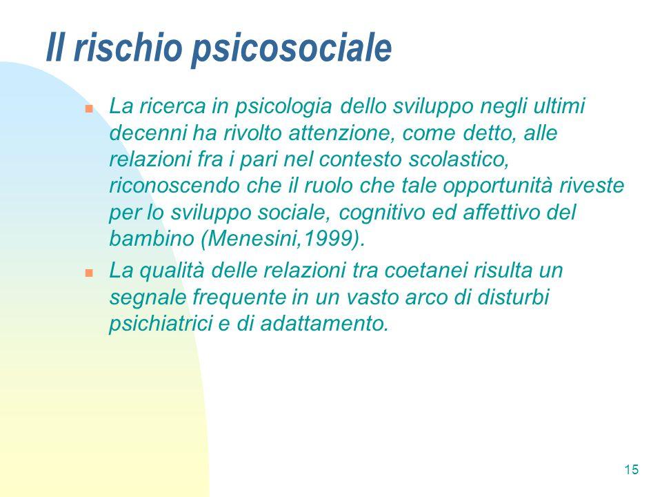 Il rischio psicosociale