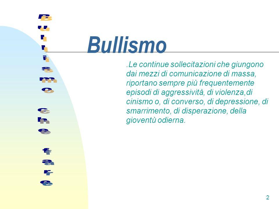 Bullismo Bullismo che fare