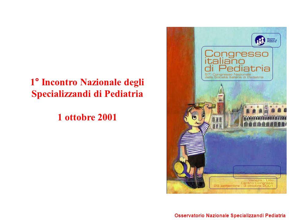 1° Incontro Nazionale degli Specializzandi di Pediatria