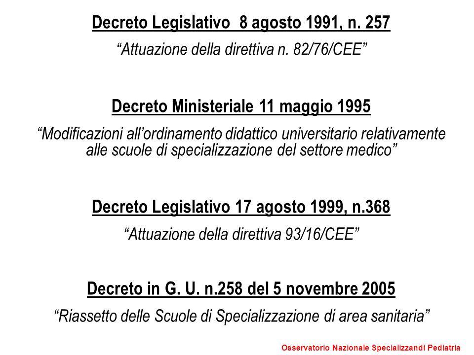 Decreto Legislativo 8 agosto 1991, n. 257