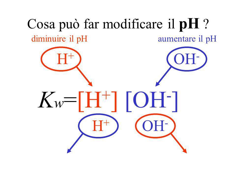 Cosa può far modificare il pH
