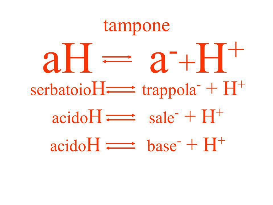 serbatoioH trappola- + H+