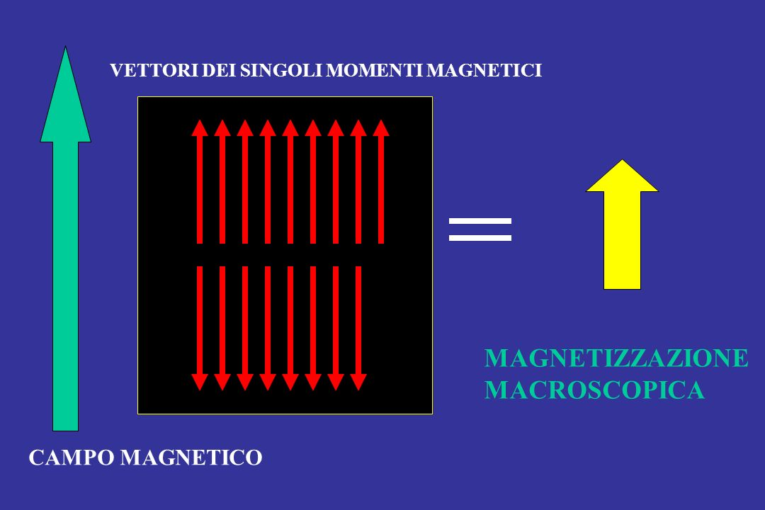 MAGNETIZZAZIONE MACROSCOPICA CAMPO MAGNETICO