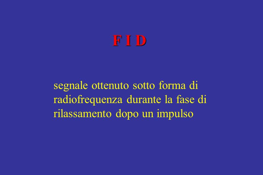 F I D segnale ottenuto sotto forma di radiofrequenza durante la fase di rilassamento dopo un impulso.