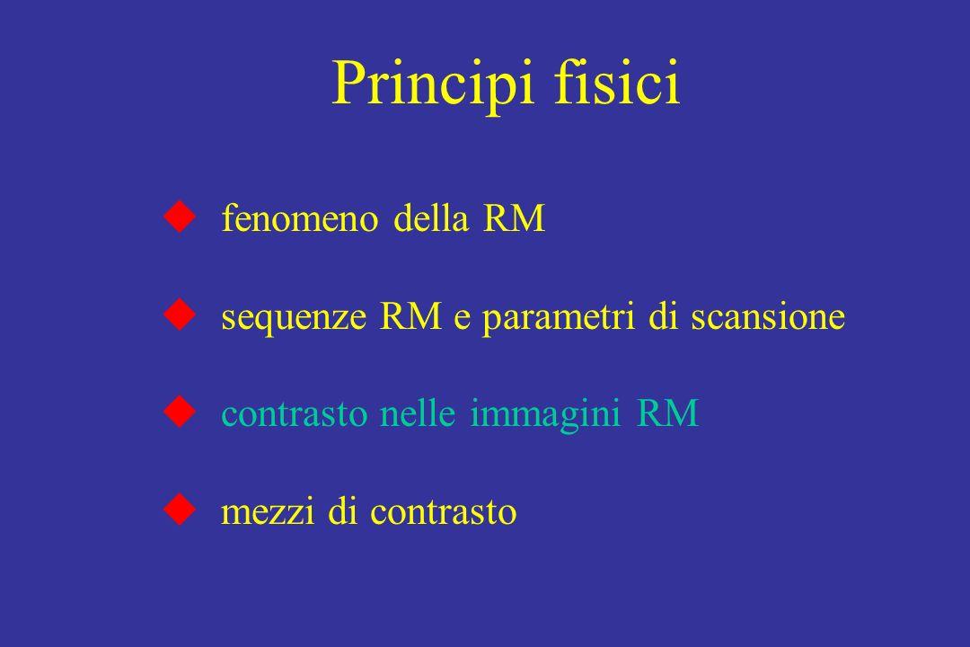 Principi fisici fenomeno della RM sequenze RM e parametri di scansione