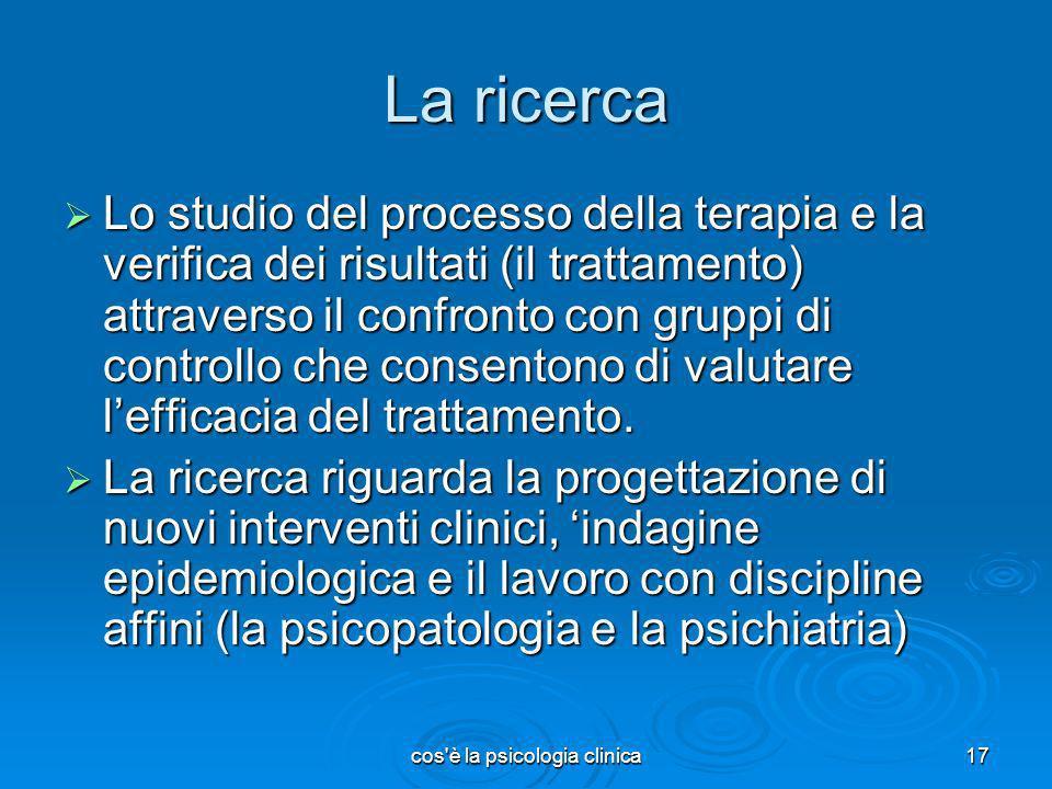 cos è la psicologia clinica