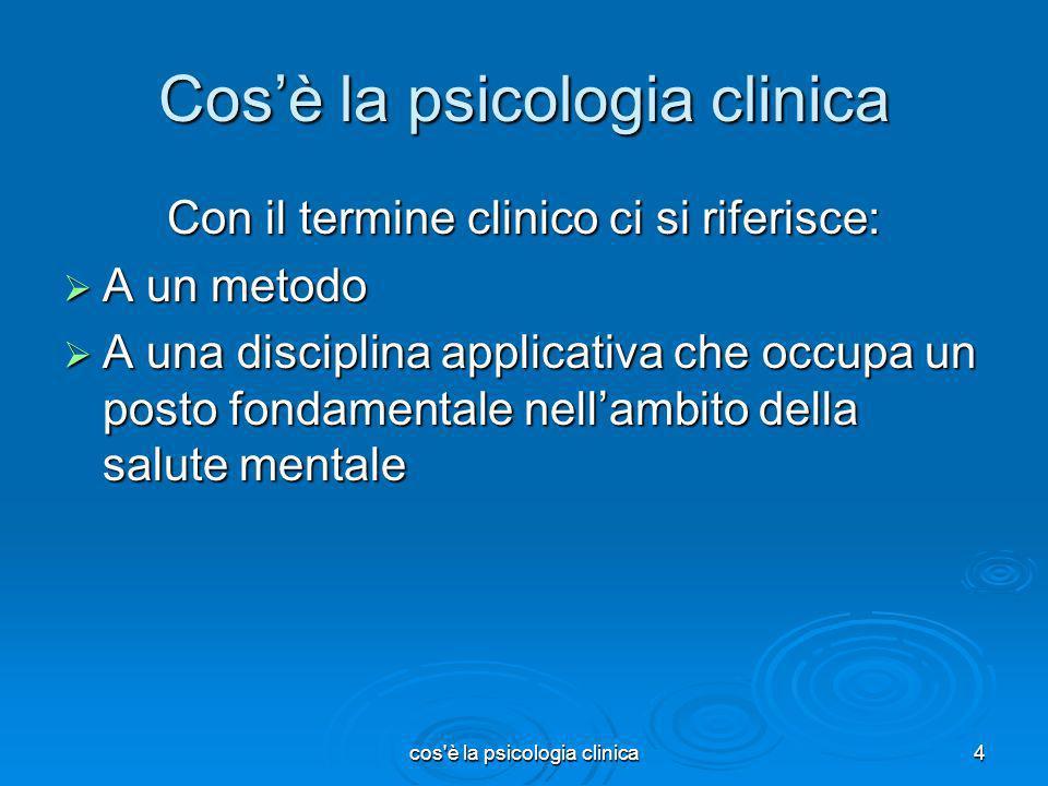 Cos'è la psicologia clinica
