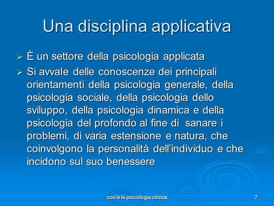 Una disciplina applicativa
